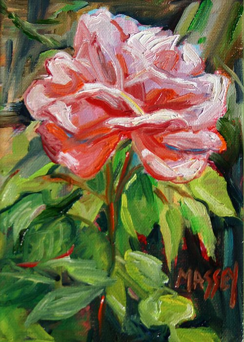 Rose Greeting Card featuring the painting As Sweet by Marie Massey