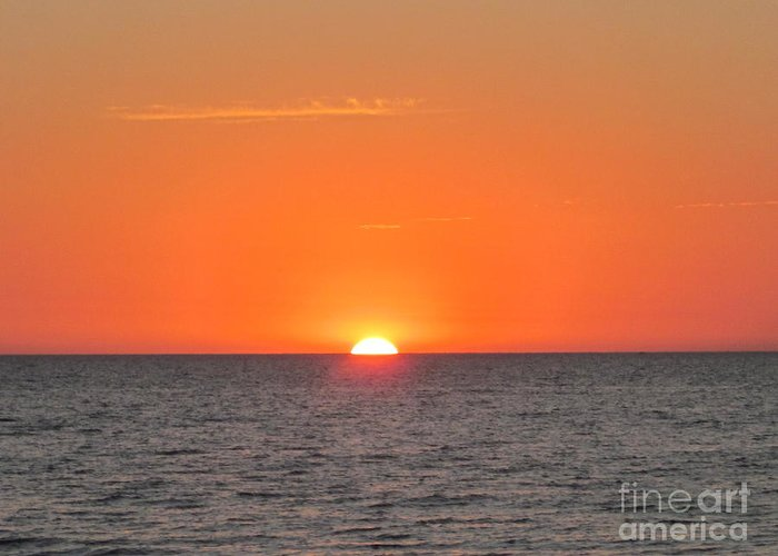 Greeting Card featuring the photograph As The Sun Goes Down by Miss McLean