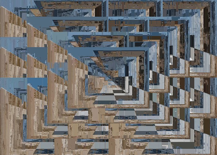 Abstract Greeting Card featuring the digital art Aspiration Cubed 5 by Tim Allen