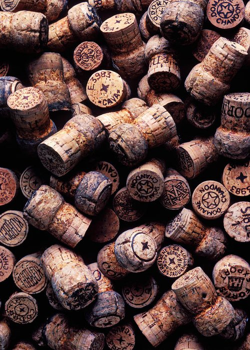 Champagne Corks Greeting Card featuring the photograph Assorted Champagne Corks by Garry Gay