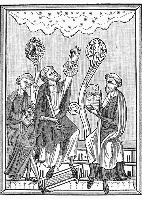 13th Century Greeting Card featuring the photograph Astronomy, 13th Century by Granger