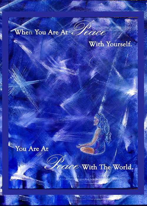 Meditation Greeting Card featuring the mixed media At Peace by The Art With A Heart By Charlotte Phillips