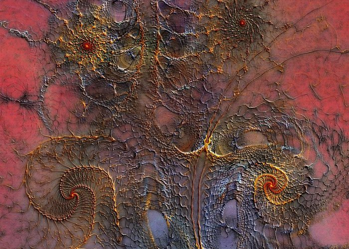 Abstract Greeting Card featuring the digital art At The Moment by Casey Kotas