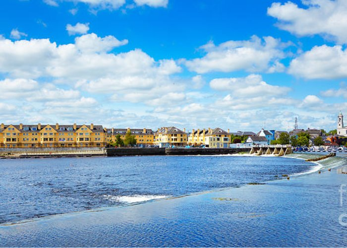 Athlone Greeting Card featuring the photograph Athlone City And Shannon River by Gabriela Insuratelu