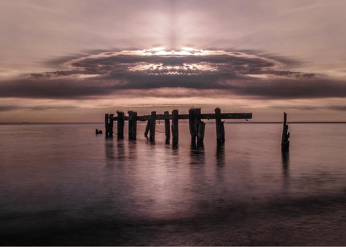 Water Greeting Card featuring the photograph Atomic Sunrise by Sarah Hauck