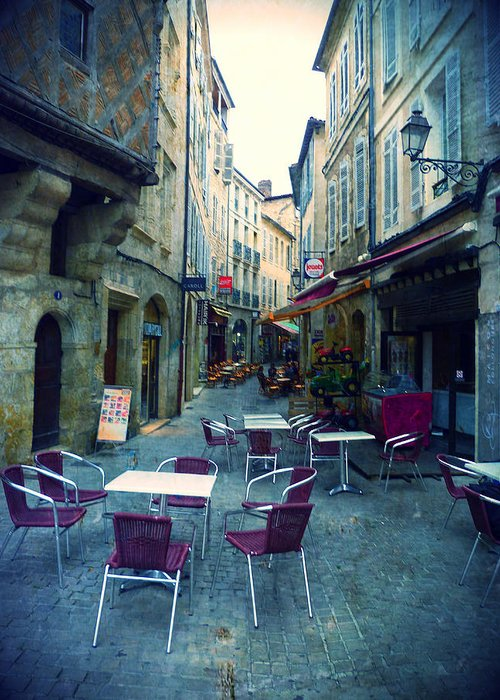 Auch Greeting Card featuring the photograph Auch- Rue Dessoles by Sandrine Pelissier