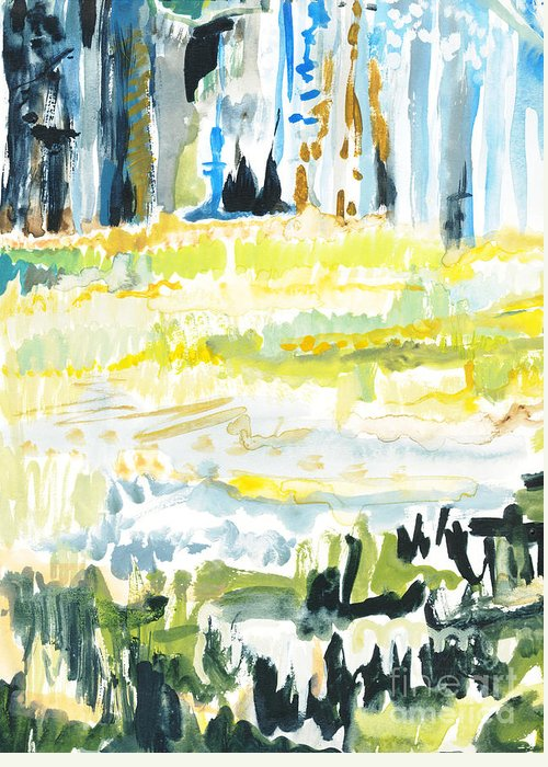 Forest Greeting Card featuring the painting Audobon II by Vannucci Fine Art