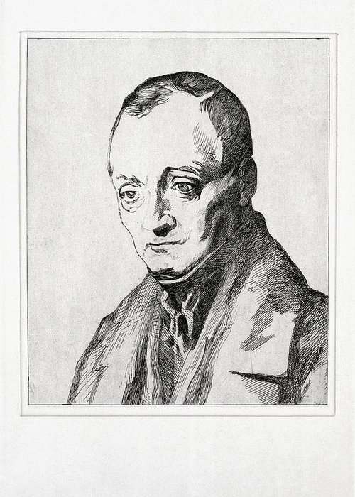 Auguste Comte Greeting Card featuring the photograph Auguste Comte, French Philosopher by Humanities & Social Sciences Librarynew York Public Library