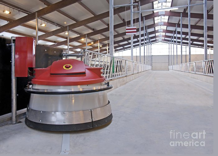 Agricultural Greeting Card featuring the photograph Automated Feed Pusher by Jaak Nilson