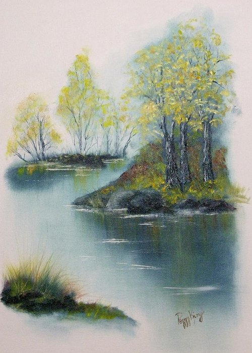 Landscape Greeting Card featuring the painting Autumn Afternoon by Peggy King