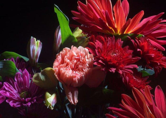 Flower Greeting Card featuring the photograph Autumn Bouquet by Joe Kozlowski