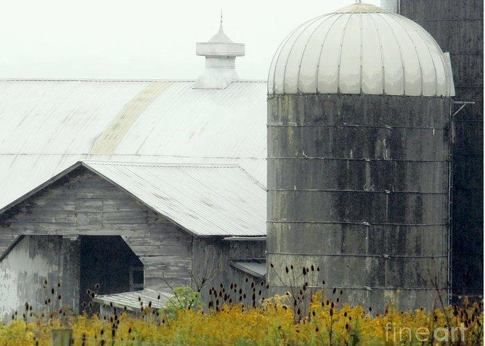 Barn Greeting Card featuring the photograph Autumn Rain by Joe Jake Pratt