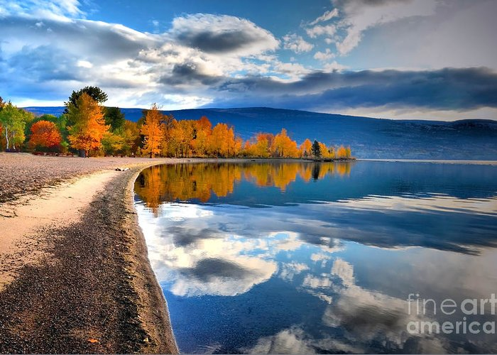 Autumn Greeting Card featuring the photograph Autumn Reflections In October by Tara Turner