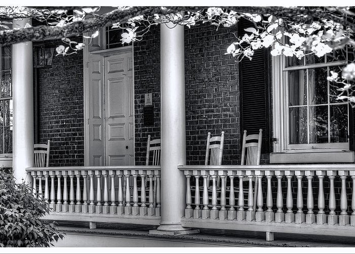 National Register Greeting Card featuring the photograph Avenel Porch - Bedford - Virginia by Steve Hurt