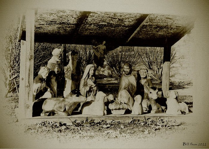 Away In The Manger Greeting Card featuring the photograph Away In The Manger by Bill Cannon