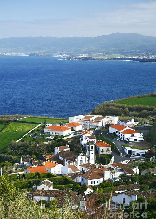 Village Greeting Card featuring the photograph Azores by Gaspar Avila