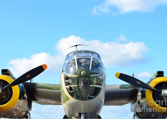 North American B-25j Mitchell Greeting Card featuring the photograph B-25j Killer B by Lynda Dawson-Youngclaus