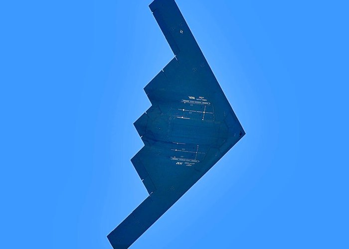B2 Greeting Card featuring the photograph B2 Bomber by Lamyl Hammoudi