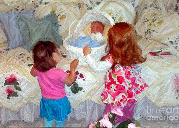 Children Greeting Card featuring the photograph Baby Dolls by RL Rucker