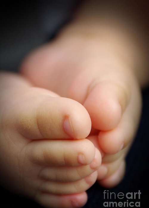 Baby Greeting Card featuring the photograph Baby Feet by Carlos Caetano