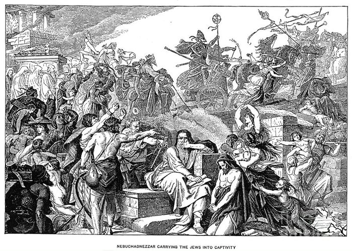 Babylon Greeting Card featuring the photograph Babylonian Captivity by Granger