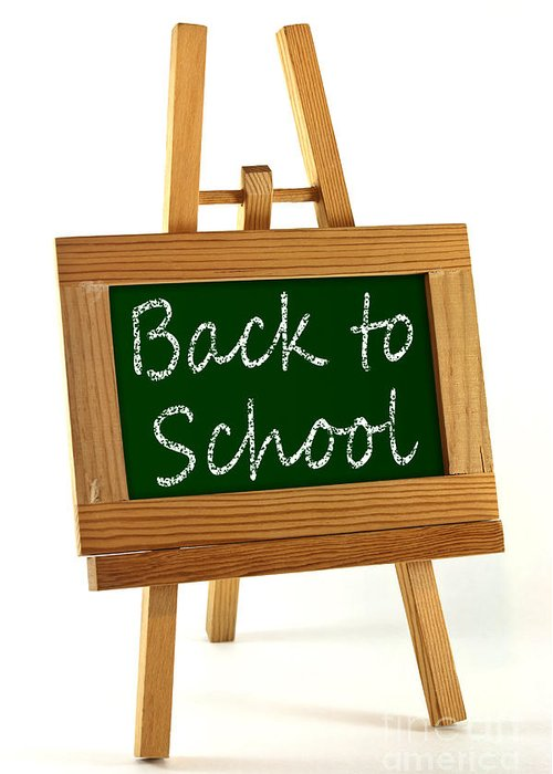 School Greeting Card featuring the photograph Back To School Sign by Blink Images
