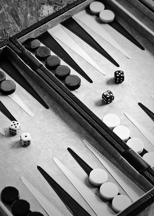Backgammon Greeting Card featuring the photograph Backgammon by Joana Kruse