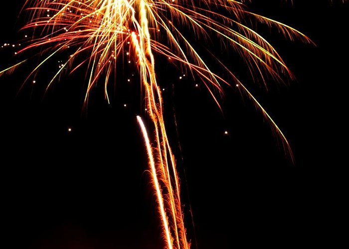 Fireworks Greeting Card featuring the photograph Backyard Fireworks 2012 3 by Robert Morin