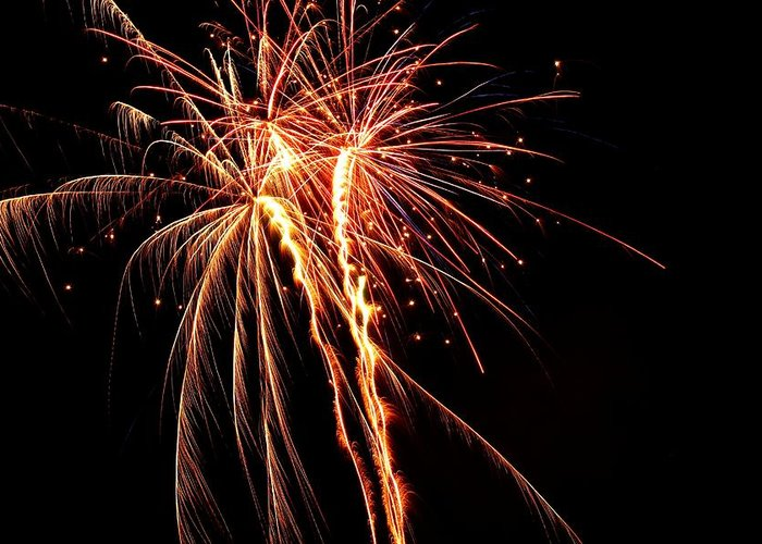 Fireworks Greeting Card featuring the photograph Backyard Fireworks 2012 5 by Robert Morin