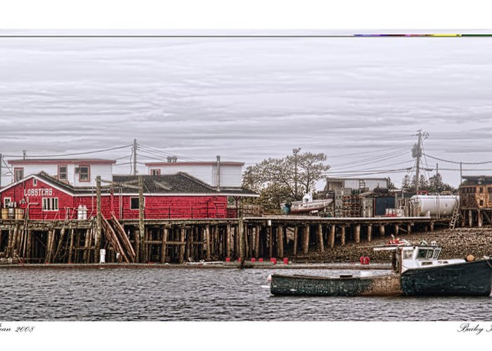 Architecture Greeting Card featuring the photograph Bailey Island Maine by Richard Bean