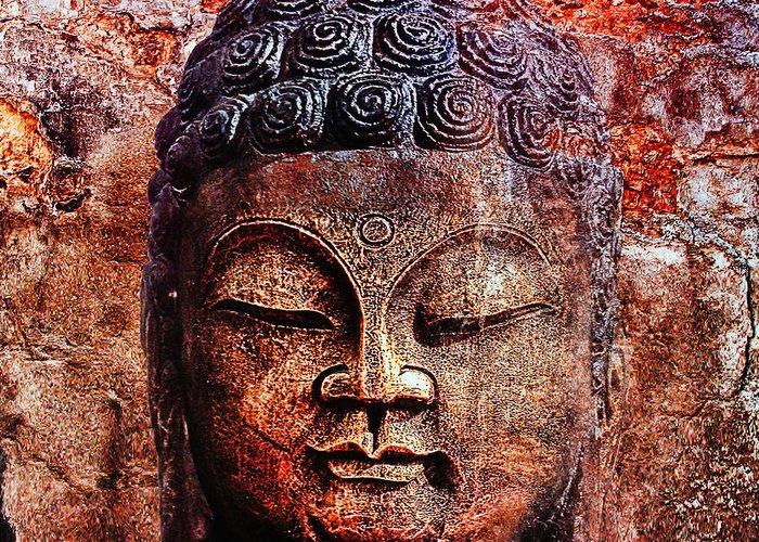 Buddha Greeting Card featuring the photograph Balance by Joachim G Pinkawa