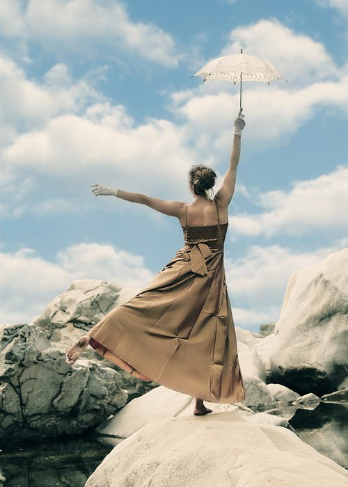 Female Greeting Card featuring the photograph Balance by Joana Kruse