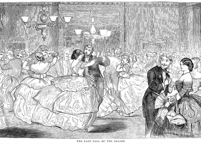 1858 Greeting Card featuring the photograph Ball, 1858 by Granger