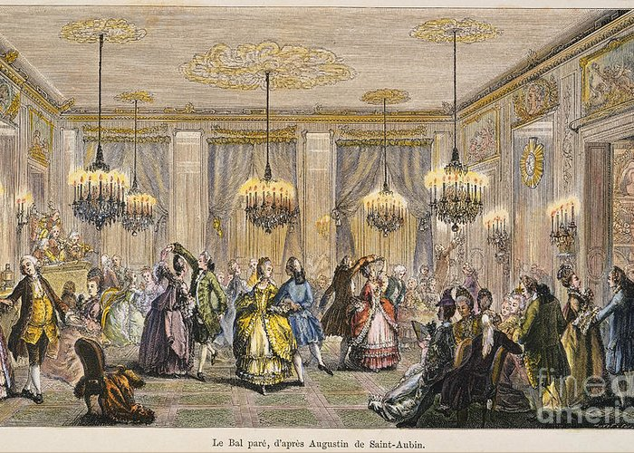 -organization- Greeting Card featuring the photograph Ball, 18th Century by Granger
