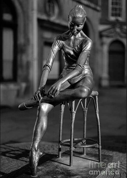 Covent Garden Street Performers Greeting Card featuring the photograph Ballerina Covent Garden London by Aldo Cervato