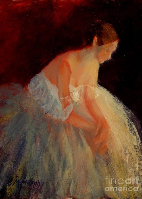 Ballerina Greeting Card featuring the painting Ballerina Study by Colleen Murphy