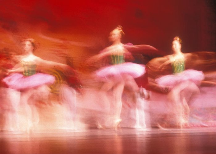 Ballet Dancers Greeting Card featuring the photograph Ballet Dancers by John Wong