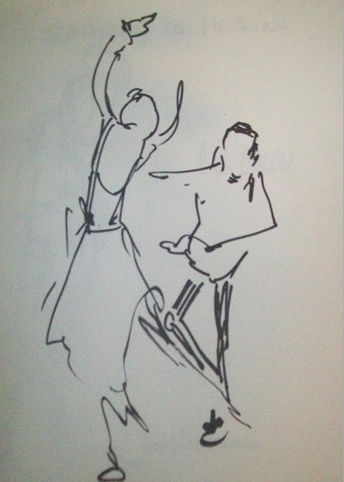 Sharpie Greeting Card featuring the painting Ballet In The Park 2 by James Christiansen