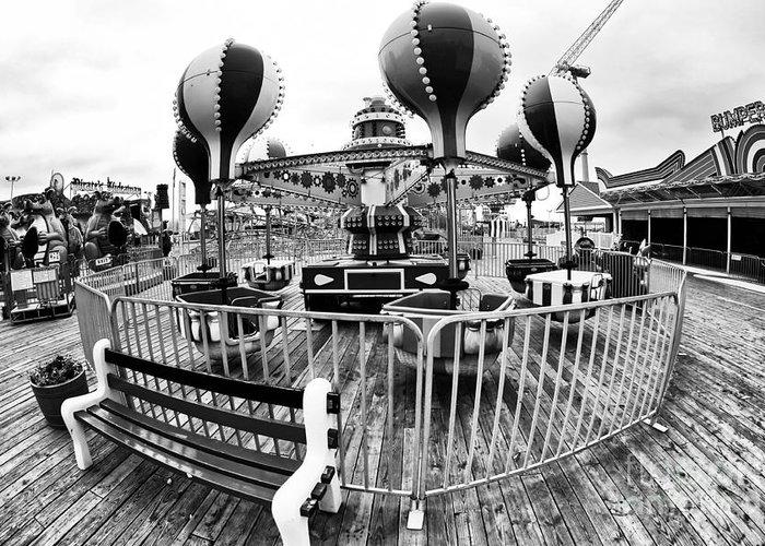 Balloon Rode At Seaside Greeting Card featuring the photograph Balloon Ride At Seaside by John Rizzuto
