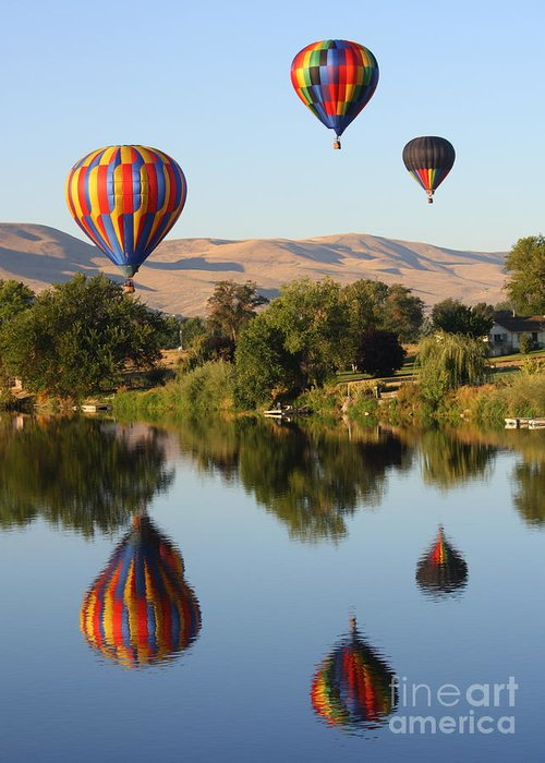 Prosser Greeting Card featuring the photograph Balloons Over Horse Heaven by Carol Groenen