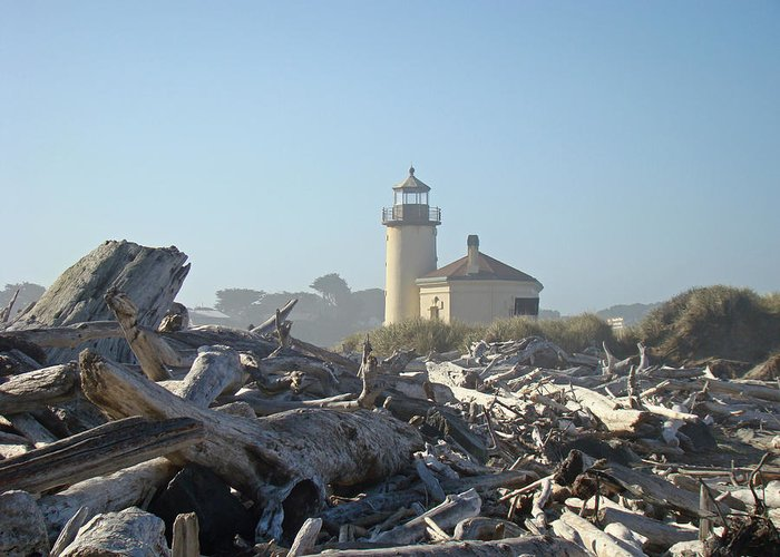 Bandon Greeting Card featuring the photograph Bandon Oregon Lighthouse Art Prints Driftwood by Baslee Troutman
