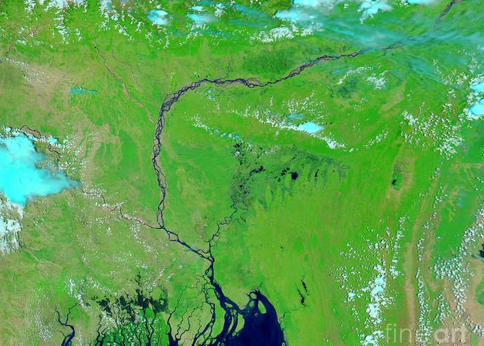 Bangladesh Greeting Card featuring the photograph Bangladesh by Nasa