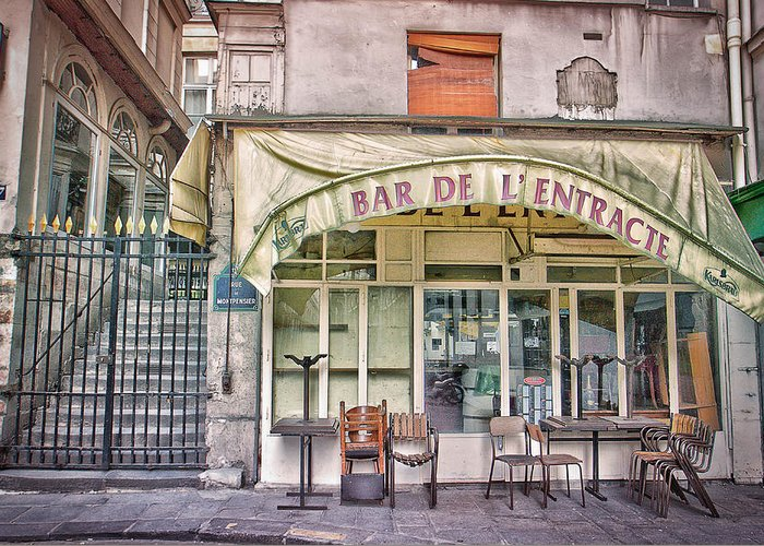 Paris Greeting Card Greeting Card featuring the photograph Bar De L'entracte by Stephanie Benjamin