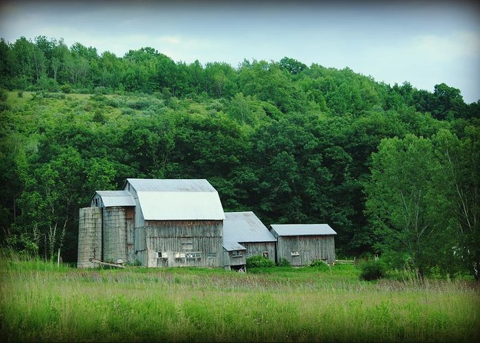 Barn Greeting Card featuring the photograph Barn by April Robert