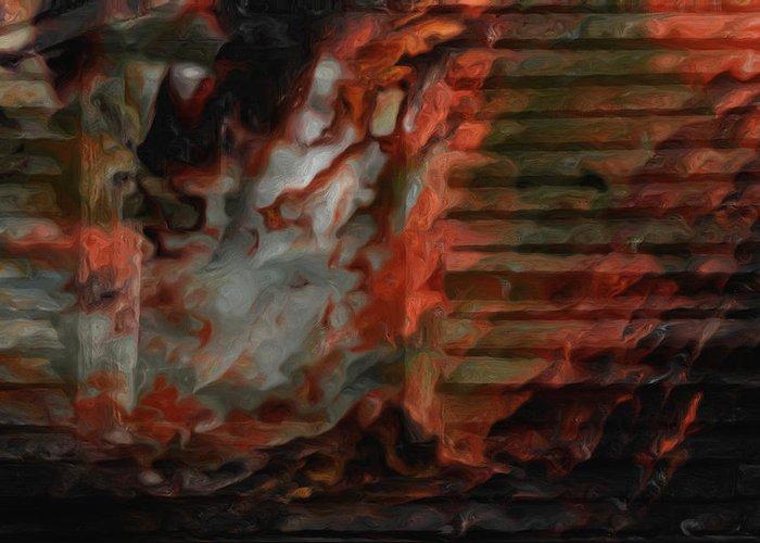 Barn Greeting Card featuring the photograph Barn Burning by Jack Zulli