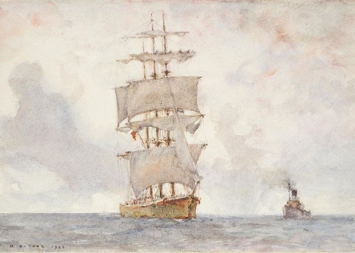 Square Rigger Greeting Cards