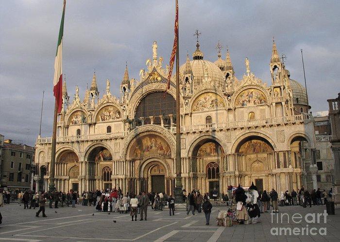 Basilique Saint-marc Greeting Card featuring the photograph Basilica San Marco by Bernard Jaubert