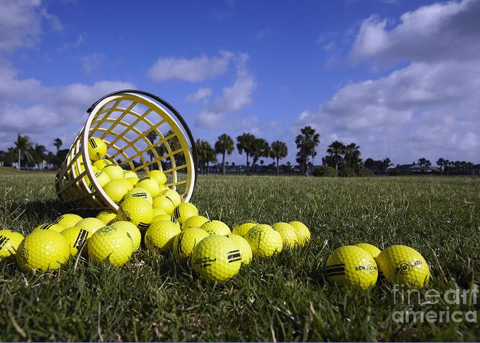 Balls Greeting Card featuring the photograph Basket Of Golf Balls by Skip Nall