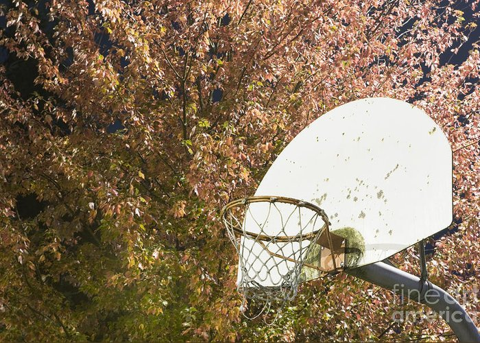 Athletics Greeting Card featuring the photograph Basketball Hoop by Andersen Ross