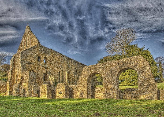 Battle Abbey Greeting Card featuring the photograph Battle Abbey Ruins by Chris Thaxter
